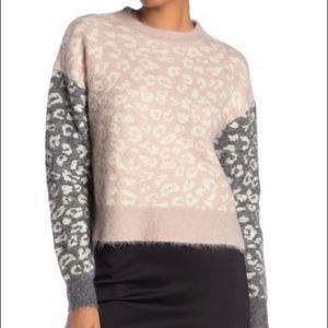 ALLSAINTS Leya Crew Neck Print Sweater